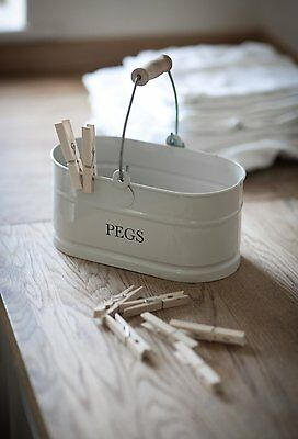 Chalk coloured vintage style peg bucket