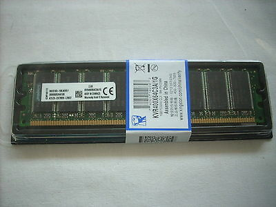 Kingston Memoria RAM KVR400X64C3A/1G DDR1 1 GB 400 MHZ PC3200,Non-ECC nuova