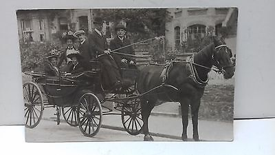 horse & carriage.tourists. ilfracombe devon postcard.