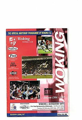 1996-1997 Woking v Coventry City FA Cup
