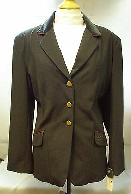 Tagg Ladies Europa Winner Charcoal Show Jacket Size 44