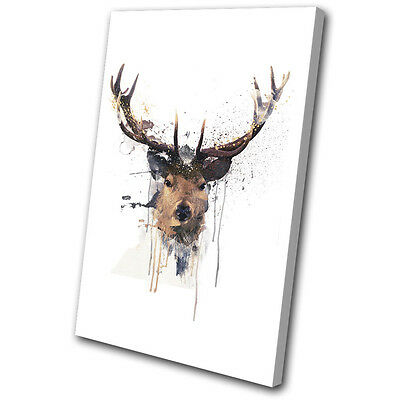 ART PRINT POSTER PAINTING DRAWING ABSTRACT DEER STAG ANTLERS STRIPES LFMP0893