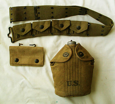Early 4 pocket RIMLESS Eagle Snap Mills PISTOL BELT and MORE!!! Named