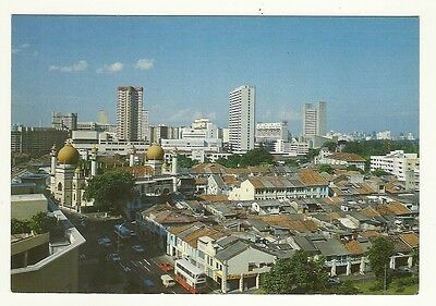 Singapore - larger format, photographic postcard of a city view