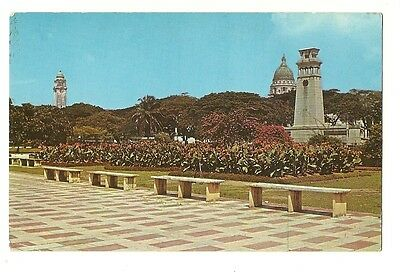 Singapore - a photographic postcard of The Cenotaph