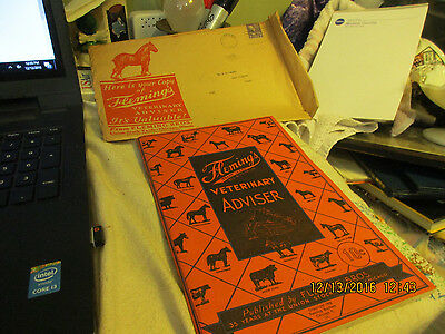 Fleming's Veterinary Advisor Booklet & Org Envelope-1945