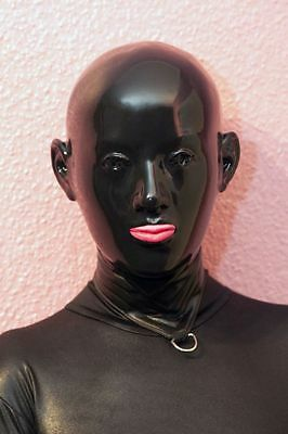 "Latexmaske "" Black Staar hole eyes "" Mask Maske Rubber Latex"