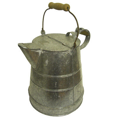 Buckby Watering Can Unpainted Galvanised - Traditional Style Canal Art
