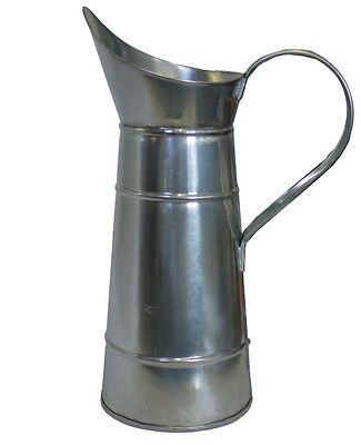 Canal Water Jug Unpainted Galvanised - Traditional Style Canal Art