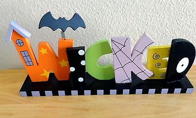 "Halloween, Wood, Table Decoration, WICKED, 13"" X 6"" X 2 1/4"" Wide"