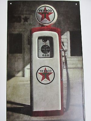 Gas Fuel Pump Texico Tin Sign ~~Home Decor, Garage ~~Vintage Look Man Cave Gift