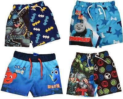 Boys Avengers,Thomas Tank and  Batman Swim Shorts Trunks  Ages 1.5 to 10 Years
