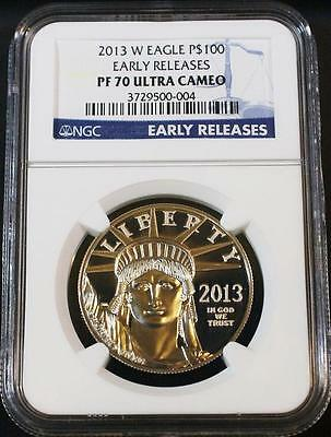2013-W Better Date $100 One Ounce Proof Platinum Eagle NGC PF 70 Early Releases