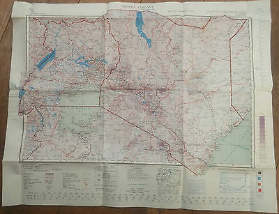 1947, Military Map of Kenya Colony, Folded Sheet Map