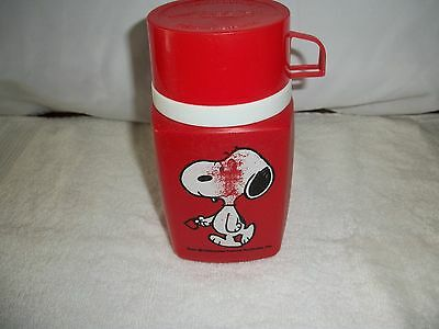 Vintage 1958 Snoopy / Peanuts Lunchbox Thermos
