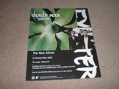 DEPECHE MODE Exciter 2001 US Desk STAND UP DISPLAY CARD RARE