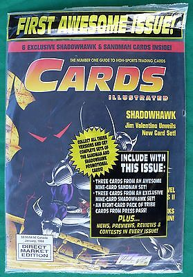 Cards Illustrated #1 with its 16 cards FACTORY SEALED!  January 1994, one owner!