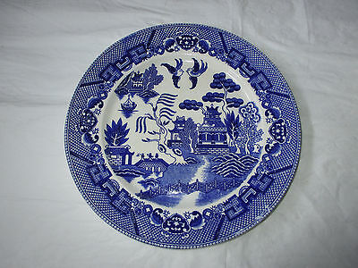 """Vintage 1930s BLUE WILLOW 9.25"""" Dinner / Luncheon Plate, Marked """"Japan"""""""