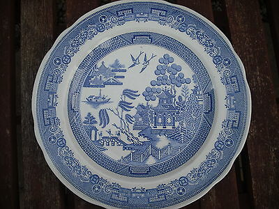 """Spode 9"""" Blue Room Collection Plate - Willow"""