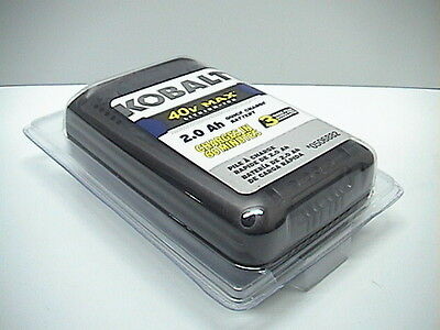 Brand New Kobalt 40V Lithium Ion 2.0 aAh Quick Charge Battery 0506882