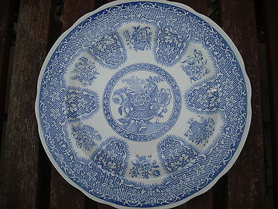 """Spode 9"""" Blue Room Collection Plate - Filigree"""