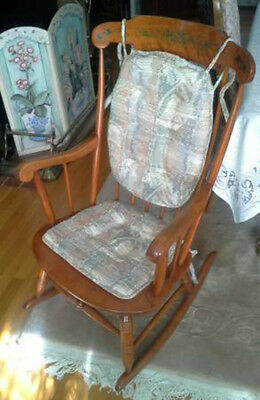 Antique Nicholas Stone Rocking Chair with cushions