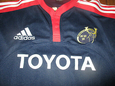 MUNSTER RUGBY Ireland Jersey Large Adidas Clima Cool