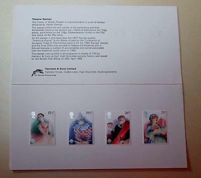 Gb 1982 Theatre Harrison Presentation Pack Mint Stamps Sg1183-1186 See # 2117+