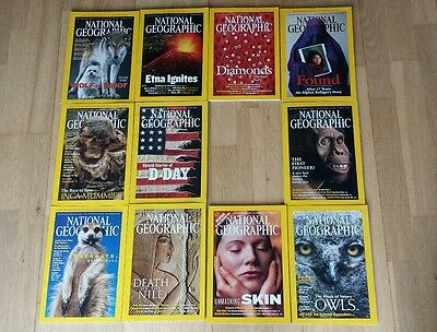 national geographic magazines set of 11 missing July edition 2002