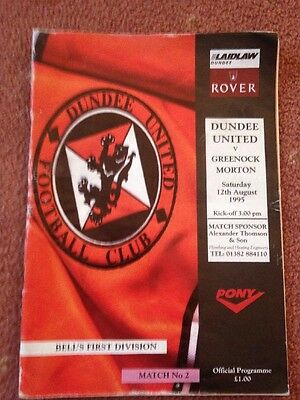 1995/96 DIVISION ONE - DUNDEE UNITED v GREENOCK MORTON -