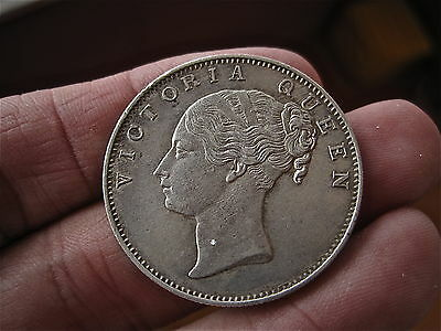 ENGALND UK silver One Rupee Queen Victoria 1840 very  High grade