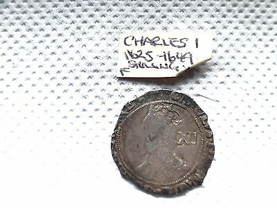 Charles 1st Silver Shilling 1625 - 1649