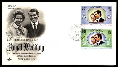 1973 Princess Anne Antigua first day cover with cachet Royal wedding