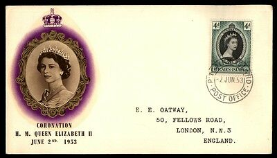 Pitcairn Island 1953 Queen Elizabeth coronation First Day Cover FDC