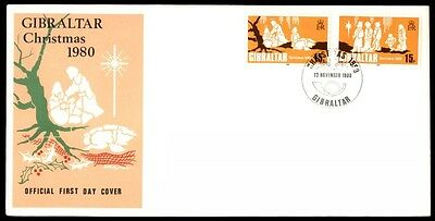 1980 Gibraltar Christmas first day cover with cachet