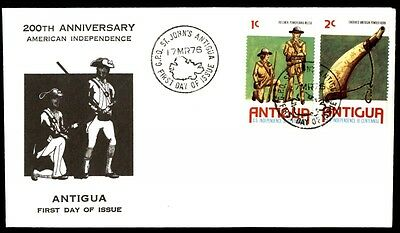 St. John's Antigua 200th anniversary American independence first day cover