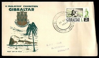 October 29, 1960 Gibraltar philatelic  exhibition first-day cover illustrated