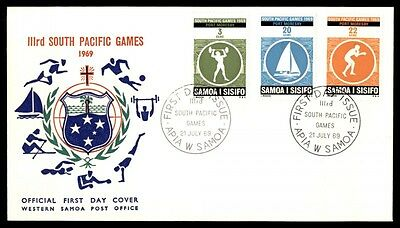 Samoa 1969 Sports Cacheted South Pacific Games FDC