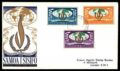 Samoa Human Rights Year 1968 Cacheted First Day Cover