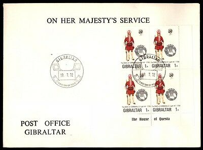 July 19, 1972 Gibraltar majesties service post office first-day cover