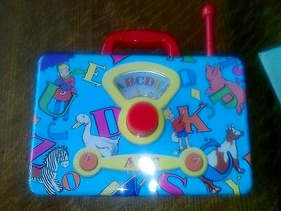 Tin retro children's music box working order
