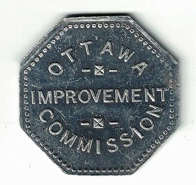 Ottawa Improvement Commission Good For 2 Yds Load Of Filling Aluminum Token