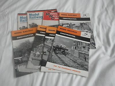 COLLECTION OF 8 MODEL RAILWAY CONSTRUCTORs from 1950s