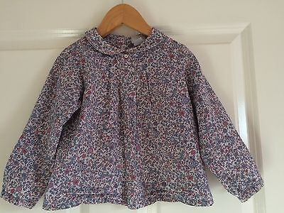 Cyrillus French designer Ditsy Floral liberty print cotton blouse top age 3 yr
