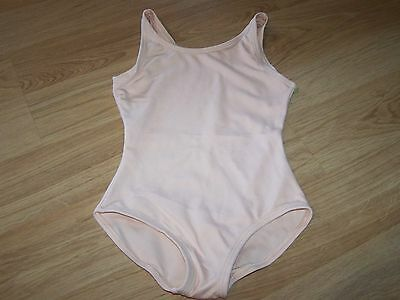 Girls Size Small Solid Light Pink Peach Capezio Dance Gymnastics Leotard EUC