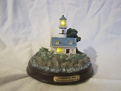 "Thomas Kinkade ""The Light in the Storm"" Light Up Lighthouse"