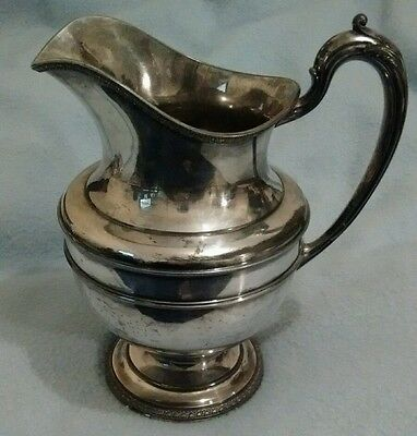 Vintage Reed & Barton Silverplate Water Pitcher 4050