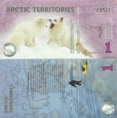 R-10-2, Arctic Territories, 1 Dollars Polymer (2012), Uncirculated