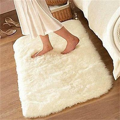 Soft Wool Feel Anti-Skid Carpet Shaggy Mat Rug For Living Dining Bedroom Floor