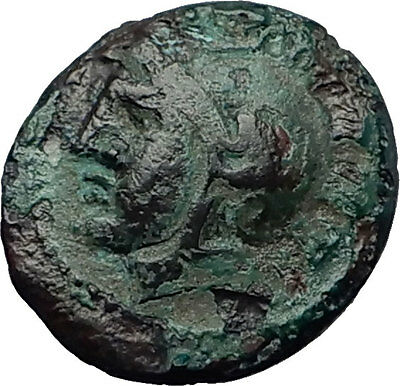 AKANTHOS in MACEDONIA 400BC Athena Wheel Authentic Ancient Greek Coin i58702